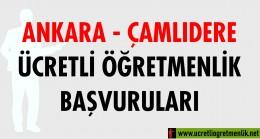 Ankara Çamlıdere Ücretli Öğretmenlik Başvuruları (2020-2021)