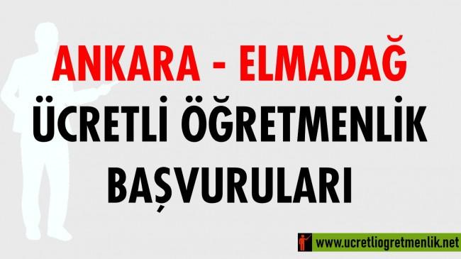 Ankara Elmadağ Ücretli Öğretmenlik Başvuruları (2020-2021)