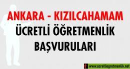 Ankara Kızılcahamam Ücretli Öğretmenlik Başvuruları (2020-2021)