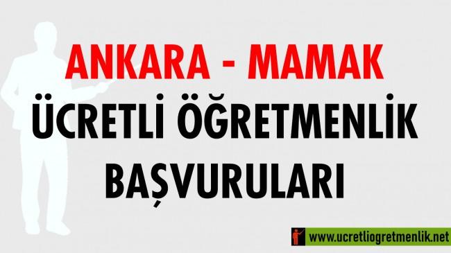 Ankara Mamak Ücretli Öğretmenlik Başvuruları (2020-2021)