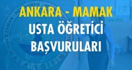 Ankara Mamak Usta Öğretici Başvuruları (2020-2021)