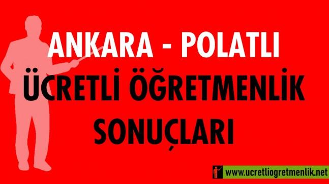 Ankara Polatlı Ücretli Öğretmenlik Sonuçları (2020-2021)