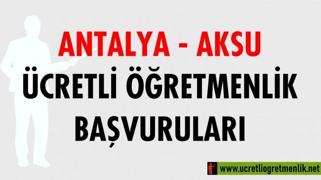 Antalya Aksu Ücretli Öğretmenlik Başvuruları (2020-2021)
