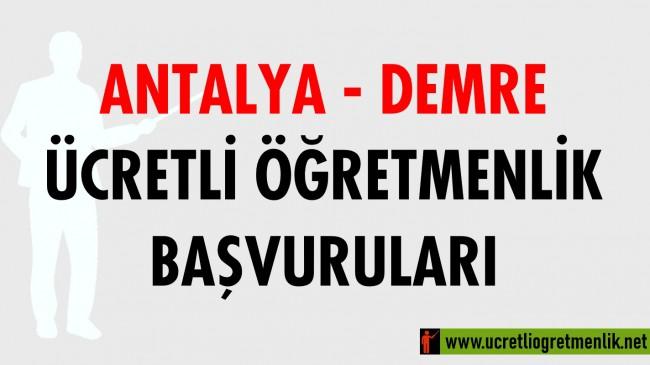 Antalya Demre Ücretli Öğretmenlik Başvuruları (2020-2021)