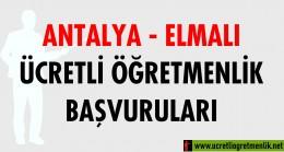 Antalya Elmalı Ücretli Öğretmenlik Başvuruları (2020-2021)