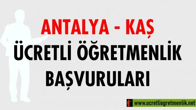 Antalya Kaş Ücretli Öğretmenlik Başvuruları (2020-2021)