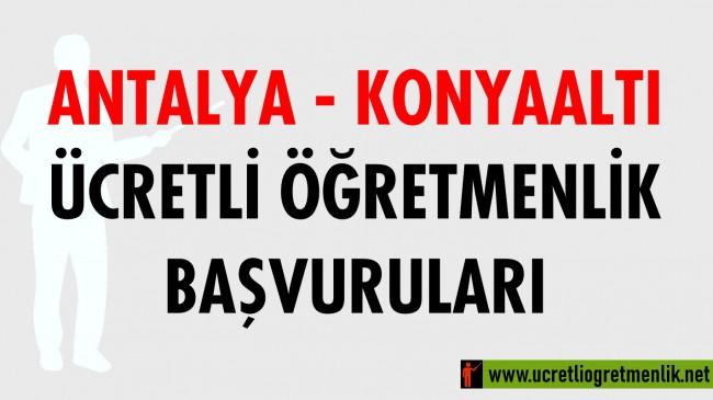 Antalya Konyaaltı Ücretli Öğretmenlik Başvuruları (2020-2021)