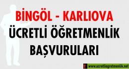 Bingöl Karlıova Ücretli Öğretmenlik Başvuruları (2020-2021)