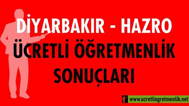 Diyarbakır Hazro Ücretli Öğretmenlik Sonuçları (2020-2021)
