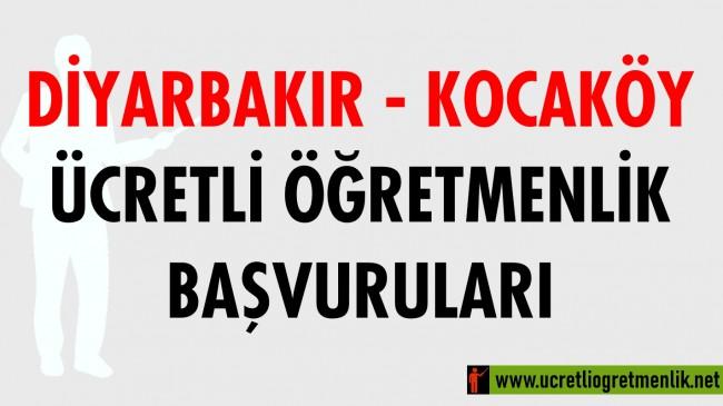 Diyarbakır Kocaköy Ücretli Öğretmenlik Başvuruları (2020-2021)