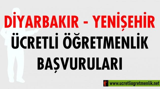 Diyarbakır Yenişehir Ücretli Öğretmenlik Başvuruları (2020-2021)