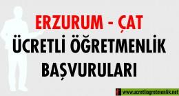 Erzurum Çat Ücretli Öğretmenlik Başvuruları (2020-2021)