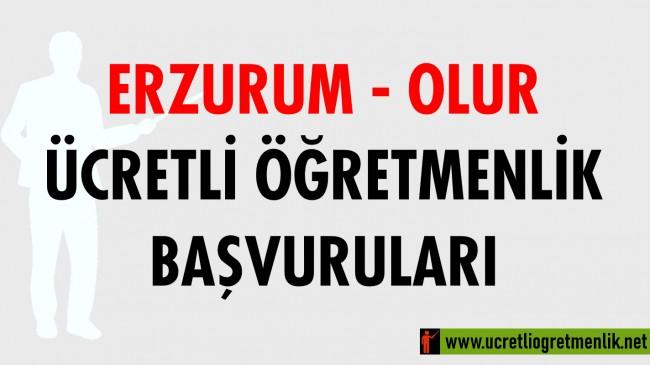 Erzurum Olur Ücretli Öğretmenlik Başvuruları (2020-2021)