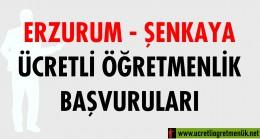 Erzurum Şenkaya Ücretli Öğretmenlik Başvuruları (2020-2021)