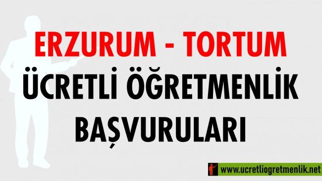 Erzurum Tortum Ücretli Öğretmenlik Başvuruları (2020-2021)