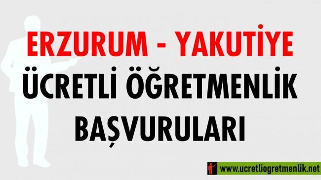 Erzurum Yakutiye Ücretli Öğretmenlik Başvuruları (2020-2021)