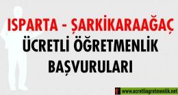 Isparta Şarkikaraağaç Ücretli Öğretmenlik Başvuruları (2020-2021)