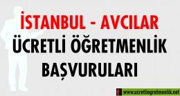 İstanbul Avcılar Ücretli Öğretmenlik Başvuruları (2020-2021)