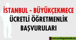İstanbul Büyükçekmece Ücretli Öğretmenlik Başvuruları (2020-2021)