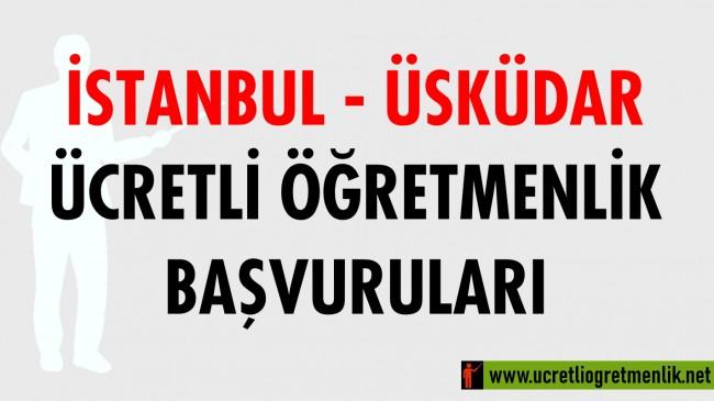 İstanbul Üsküdar Ücretli Öğretmenlik Başvuruları (2020-2021)