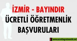 İzmir Bayındır Ücretli Öğretmenlik Başvuruları (2020-2021)