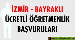 İzmir Bayraklı Ücretli Öğretmenlik Başvuruları (2020-2021)