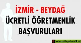 İzmir Beydağ Ücretli Öğretmenlik Başvuruları (2020-2021)