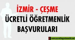 İzmir Çeşme Ücretli Öğretmenlik Başvuruları (2020-2021)