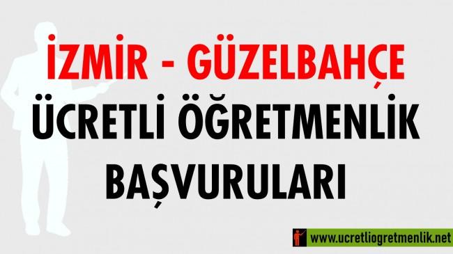 İzmir Güzelbahçe Ücretli Öğretmenlik Başvuruları (2020-2021)