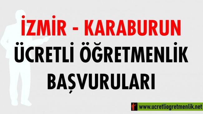 İzmir Karaburun Ücretli Öğretmenlik Başvuruları (2020-2021)