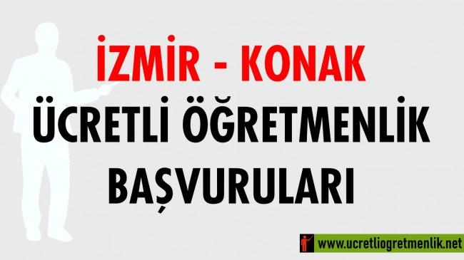 İzmir Konak Ücretli Öğretmenlik Başvuruları (2020-2021)