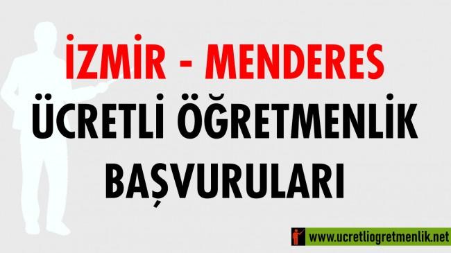 İzmir Menderes Ücretli Öğretmenlik Başvuruları (2020-2021)