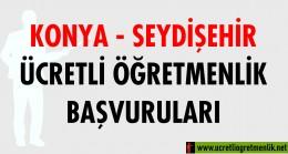 Konya Seydişehir Ücretli Öğretmenlik Başvuruları (2020-2021)