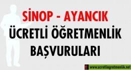Sinop Ayancık Ücretli Öğretmenlik Başvuruları (2020-2021)