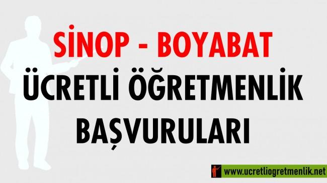 Sinop Boyabat Ücretli Öğretmenlik Başvuruları (2020-2021)