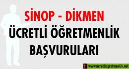 Sinop Dikmen Ücretli Öğretmenlik Başvuruları (2020-2021)
