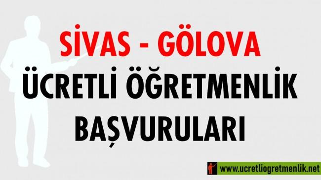 Sivas Gölova Ücretli Öğretmenlik Başvuruları (2020-2021)