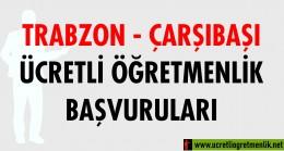 Trabzon Çarşıbaşı Ücretli Öğretmenlik Başvuruları (2020-2021)