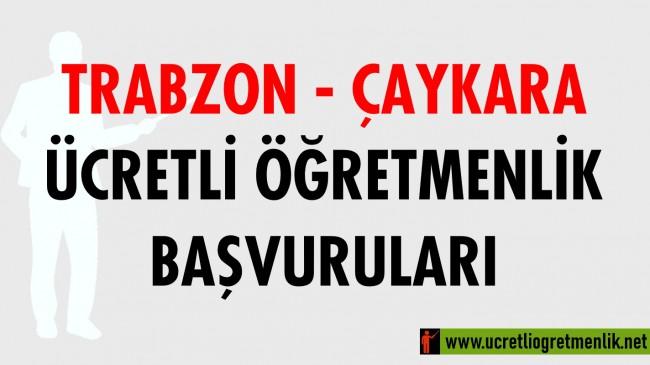 Trabzon Çaykara Ücretli Öğretmenlik Başvuruları (2020-2021)