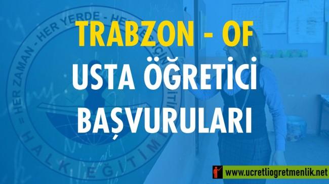 Trabzon Of Usta Öğretici Başvuruları (2020-2021)