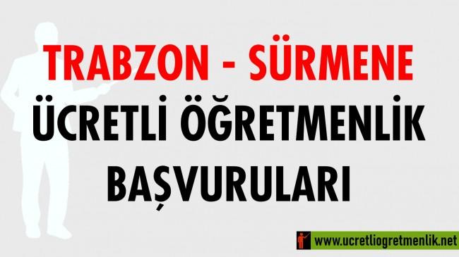Trabzon Sürmene Ücretli Öğretmenlik Başvuruları (2020-2021)