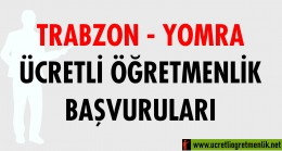 Trabzon Yomra Ücretli Öğretmenlik Başvuruları (2020-2021)