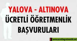 Yalova Altınova Ücretli Öğretmenlik Başvuruları (2020-2021)