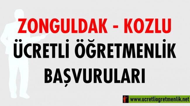 Zonguldak Kozlu Ücretli Öğretmenlik Başvuruları (2020-2021)