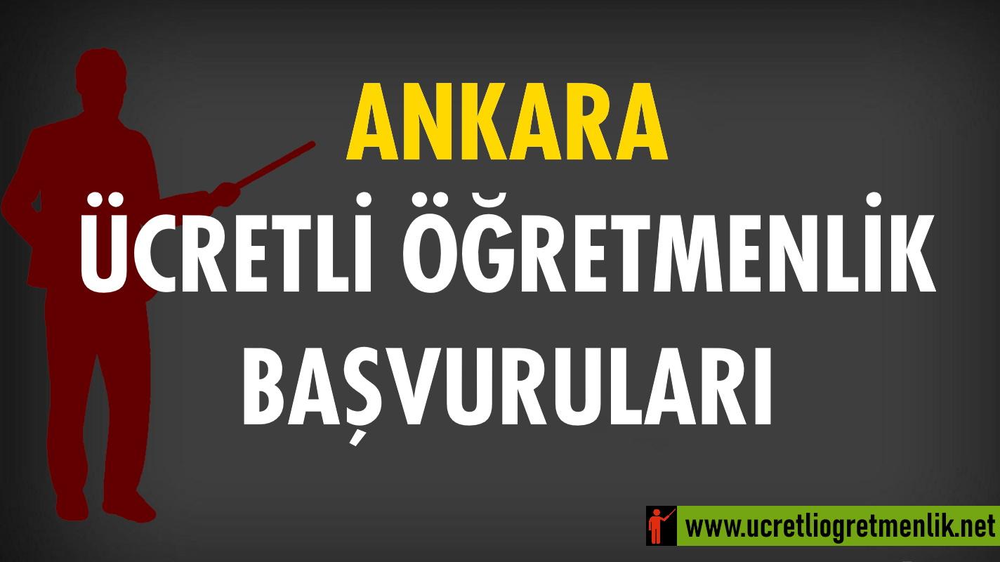 Ankara Ücretli Öğretmenlik Başvuruları (2020-2021)