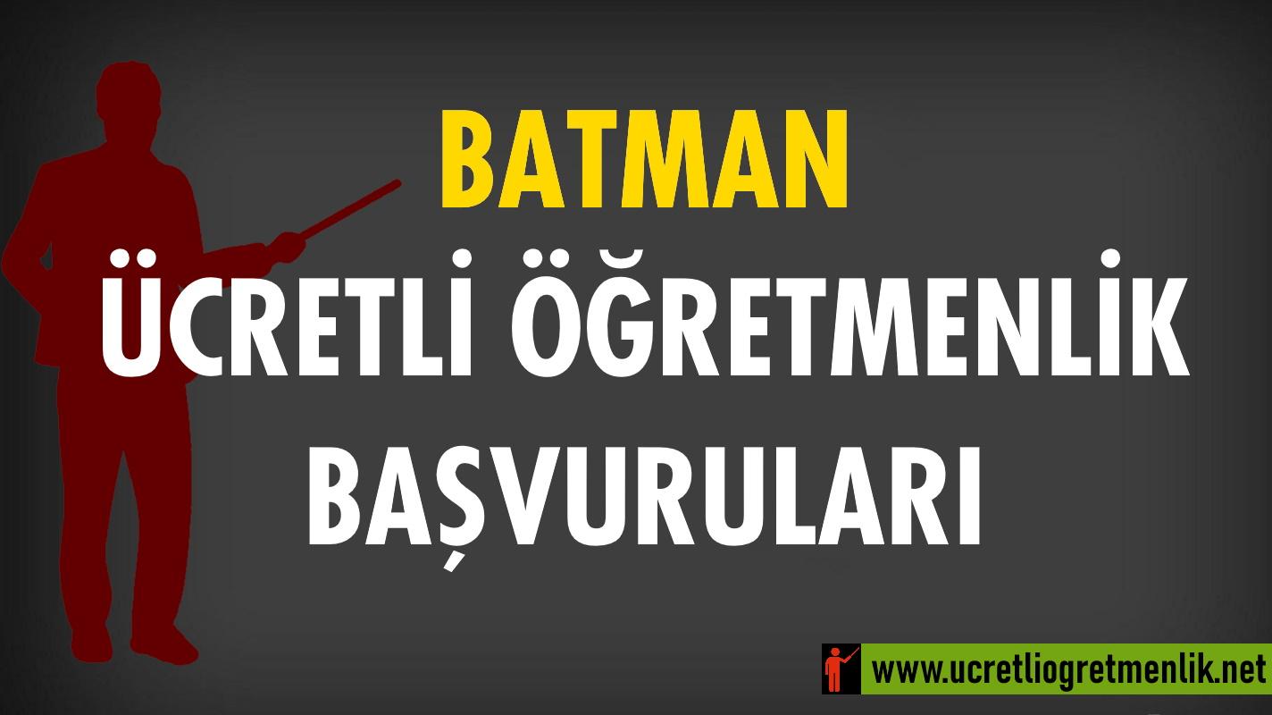 Batman Ücretli Öğretmenlik Başvuruları (2021-2022)