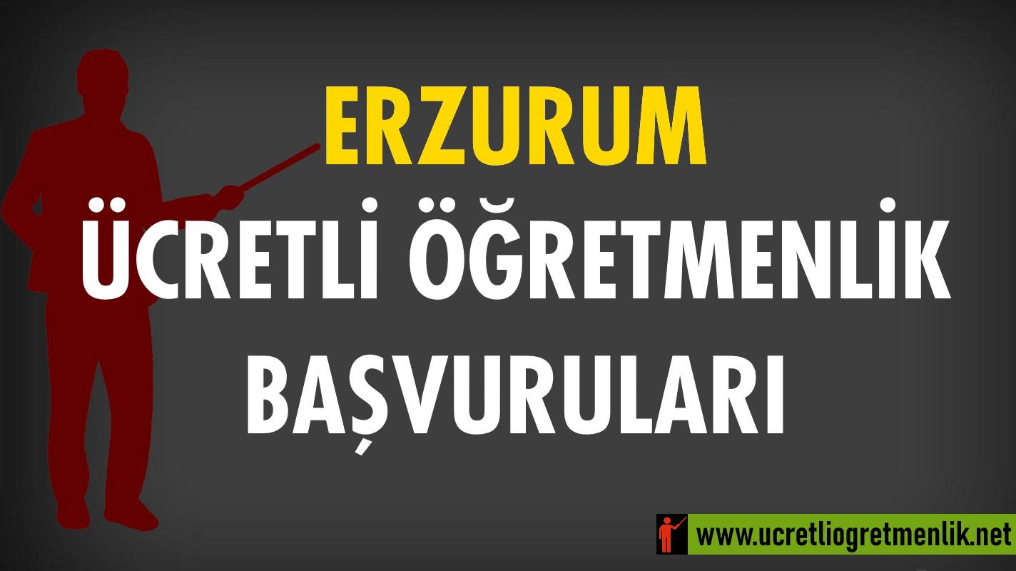 Erzurum Ücretli Öğretmenlik Başvuruları (2021-2022)