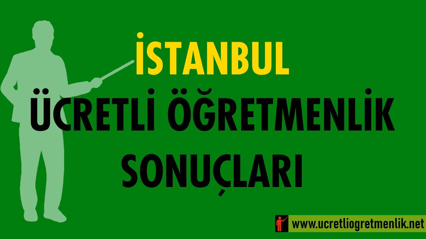 İstanbul Ücretli Öğretmenlik Sonuçları (2020-2021)
