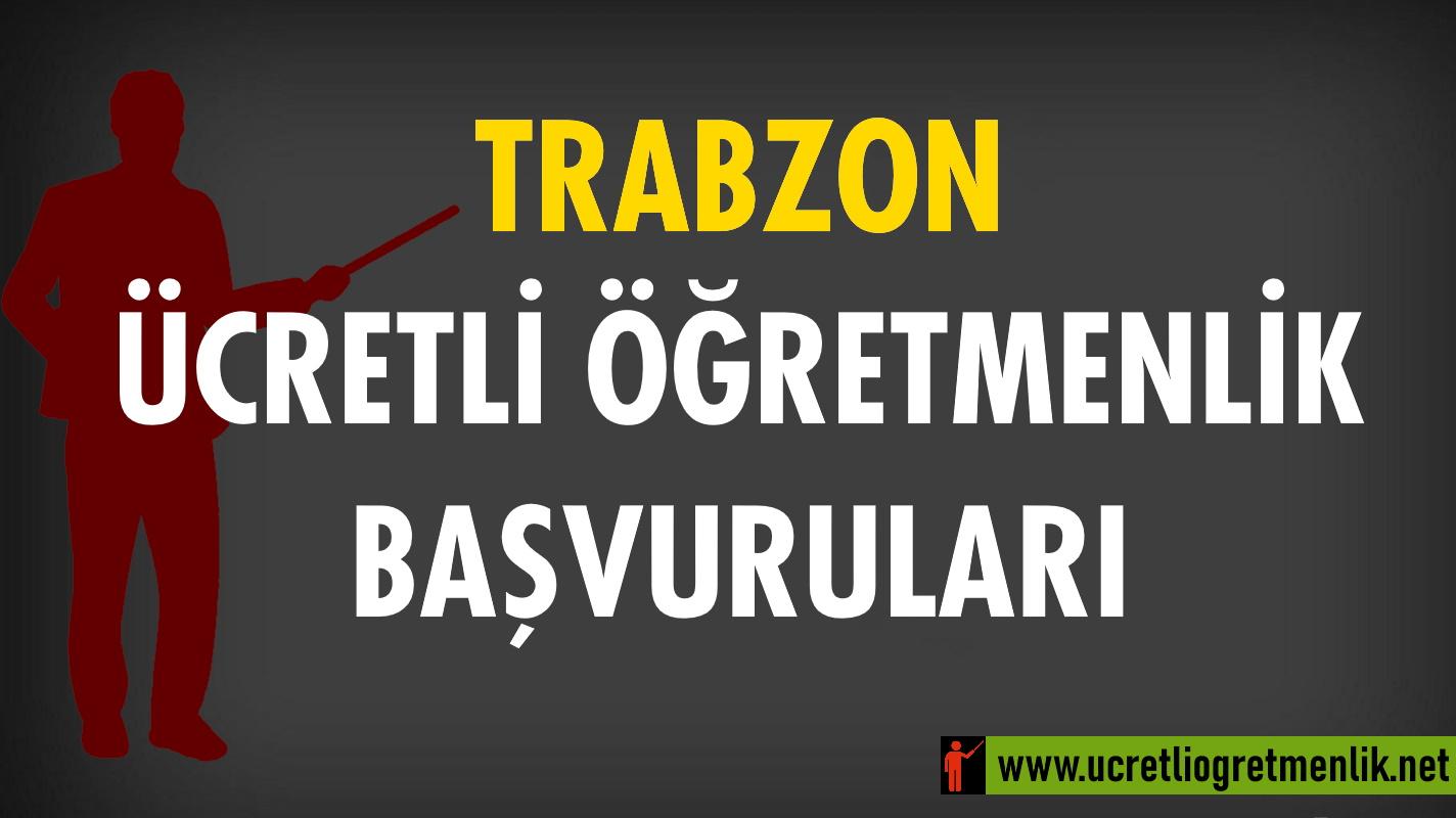 Trabzon Ücretli Öğretmenlik Başvuruları (2020-2021)