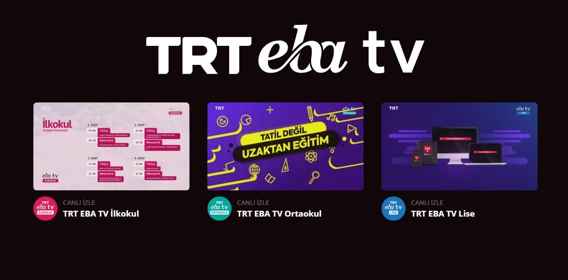 TRT EBA TV'yi İnternetten izleyin